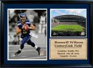 """Seattle Seahawks 12"""" x 18"""" Russell Wilson Photo Stat Frame"""