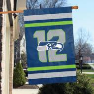 Seattle Seahawks 12th Man Applique Banner Flag