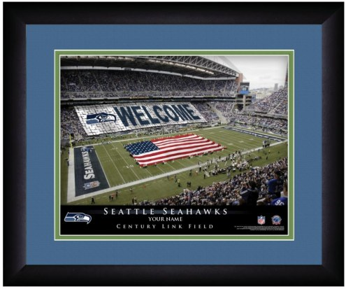 Seattle Seahawks 13 x 16 Personalized Framed Stadium Print