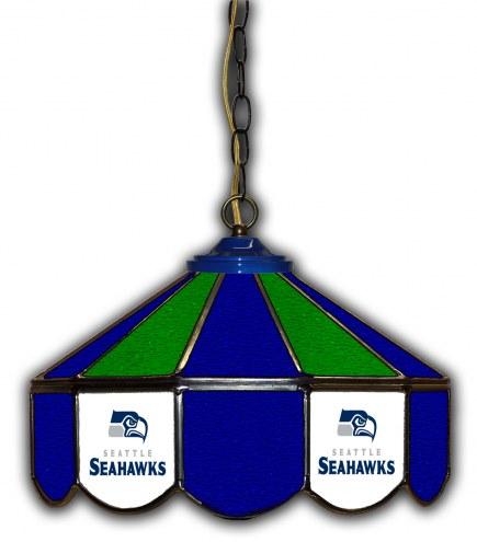 "Seattle Seahawks 14"" Glass Pub Lamp"