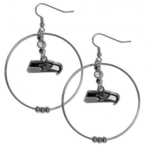 "Seattle Seahawks 2"" Hoop Earrings"