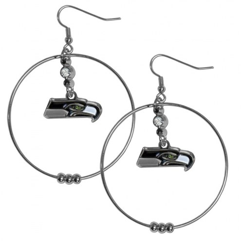 "Seattle Seahawks 2"" Hoop Earrings"