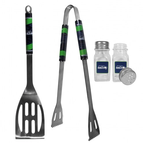 Seattle Seahawks 2 Piece BBQ Set with Salt & Pepper Shakers
