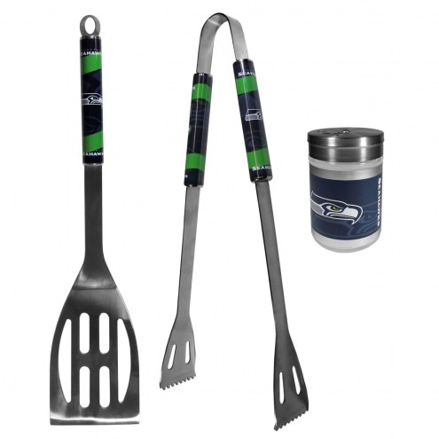 Seattle Seahawks 2 Piece BBQ Set with Season Shaker