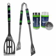 Seattle Seahawks 2 Piece BBQ Set with Tailgate Salt & Pepper Shakers