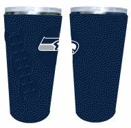 Seattle Seahawks 20 oz. Stainless Steel Tumbler with Silicone Wrap