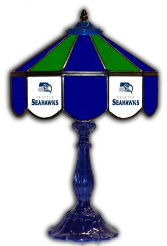 "Seattle Seahawks 21"" Glass Table Lamp"