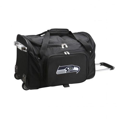 """Seattle Seahawks 22"""" Rolling Duffle Bag"""
