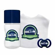 Seattle Seahawks 3-Piece Baby Gift Set