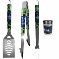 Seattle Seahawks 3 Piece Tailgater BBQ Set and Season Shaker