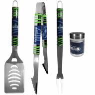 Seattle Seahawks 3 Piece Tailgater BBQ Set and Season Shaker
