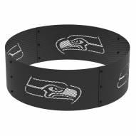 "Seattle Seahawks 36"" Round Steel Fire Ring"