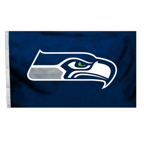 Seattle Seahawks 4' x 6' Logo Flag