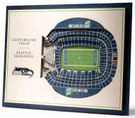 Seattle Seahawks 5-Layer StadiumViews 3D Wall Art
