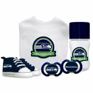 Seattle Seahawks 5-Piece Baby Gift Set