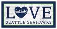 "Seattle Seahawks 6"" x 12"" Love Sign"