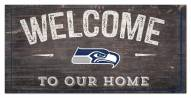 """Seattle Seahawks 6"""" x 12"""" Welcome Sign"""