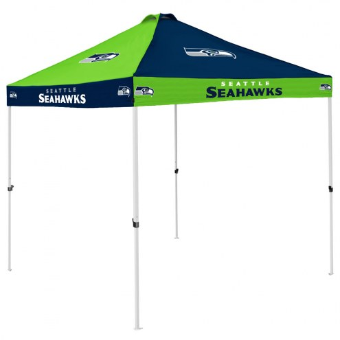 Seattle Seahawks 9' x 9' Checkerboard Tailgate Canopy Tent