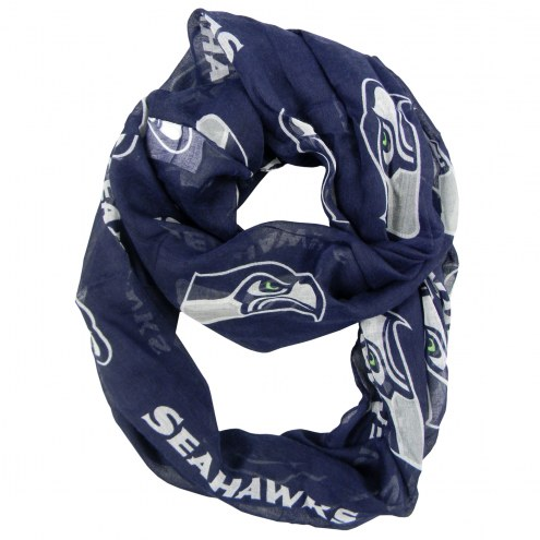 Seattle Seahawks Alternate Sheer Infinity Scarf
