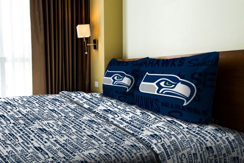Seattle Seahawks Anthem Full Bed Sheets