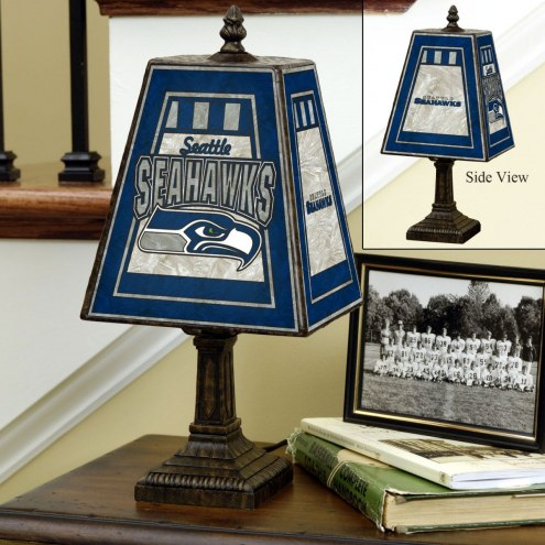 Seattle Seahawks Art Glass Table Lamp