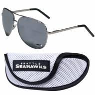 Seattle Seahawks Aviator Sunglasses and Sports Case