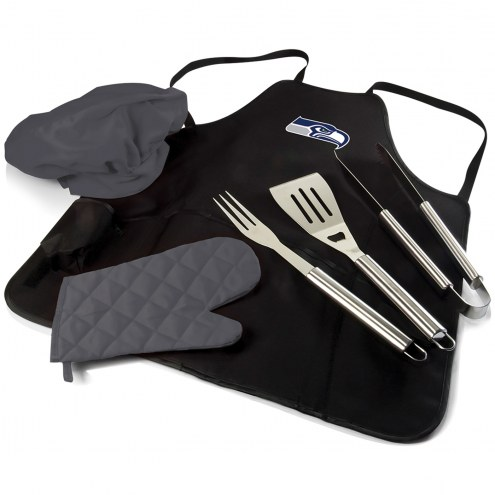 Seattle Seahawks BBQ Apron Tote Set