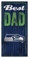 Seattle Seahawks Best Dad Sign