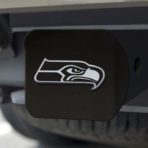 Seattle Seahawks Black Matte Hitch Cover