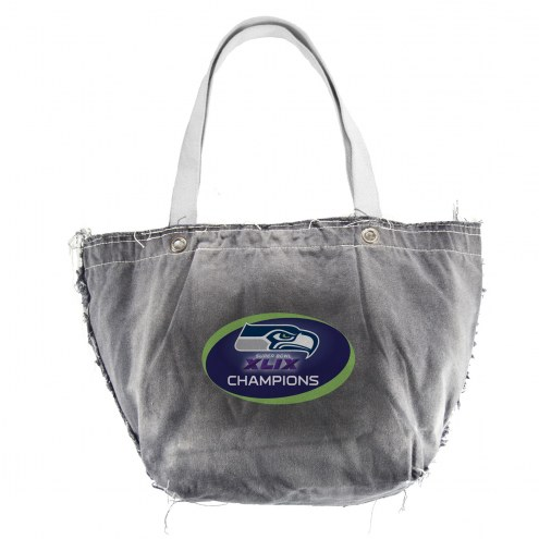 Seattle Seahawks Black NFL Vintage Tote Bag