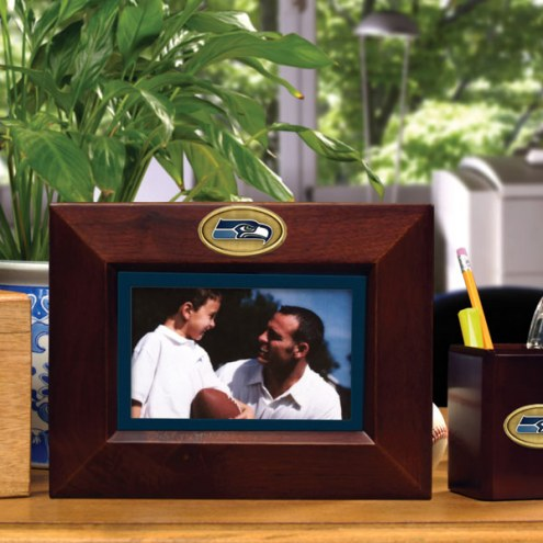 Seattle Seahawks Brown Landscape Picture Frame