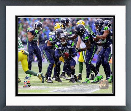Seattle Seahawks Byron Maxwell Interception Playoffs Framed Photo