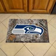 Seattle Seahawks Camo Scraper Door Mat