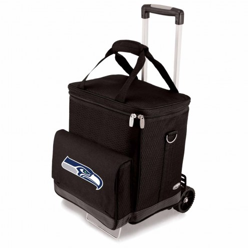 Seattle Seahawks Cellar Cooler with Trolley