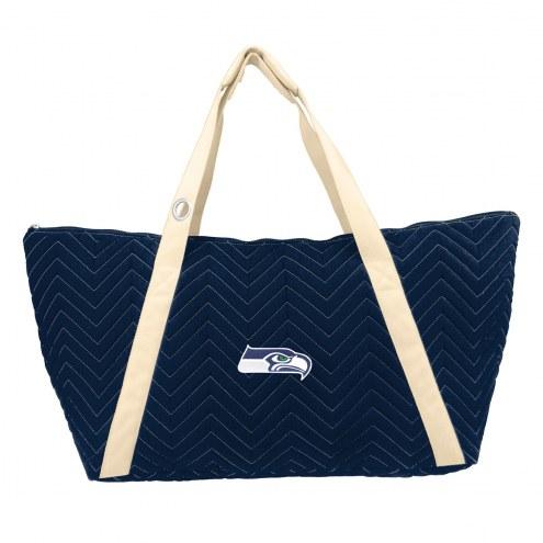 Seattle Seahawks Chevron Stitch Weekender Bag