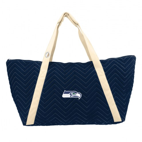 Seattle Seahawks Chevron Stitch Weekender Bag