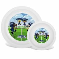 Seattle Seahawks Children's Plate & Bowl Set