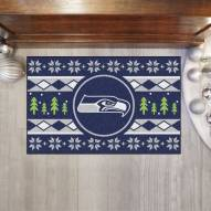 Seattle Seahawks Christmas Sweater Starter Rug