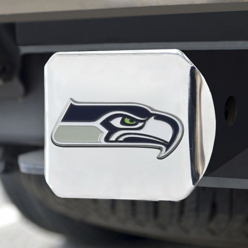 Seattle Seahawks Chrome Color Hitch Cover