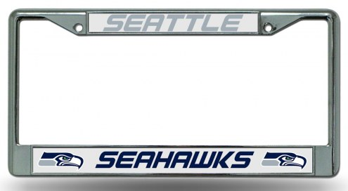 Seattle Seahawks Chrome License Plate Frame