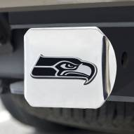 Seattle Seahawks Chrome Metal Hitch Cover