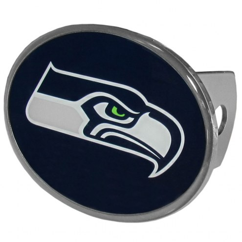 Seattle Seahawks Class II and III Oval Metal Hitch Cover
