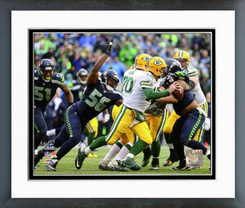 Seattle Seahawks Cliff Avril NFC Championship Game Action Playoffs Framed Photo