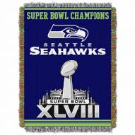 Seattle Seahawks Commemorative Champs Throw Blanket