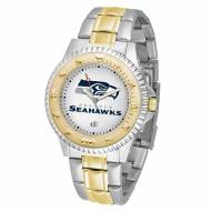 Seattle Seahawks Competitor Two-Tone Men's Watch