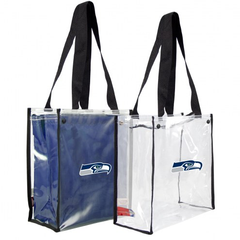 Seattle Seahawks Convertible Clear Tote