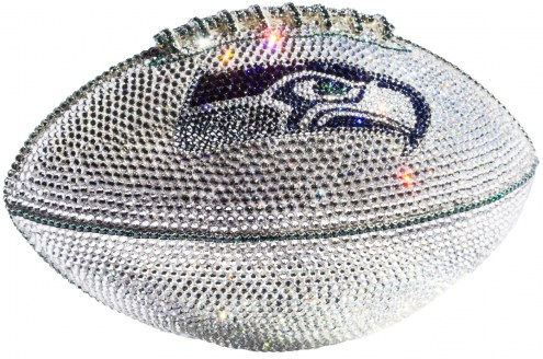 Seattle Seahawks Swarovski Crystal Football