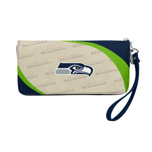 Seattle Seahawks Curve Zip Organizer Wallet
