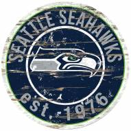 Seattle Seahawks Distressed Round Sign