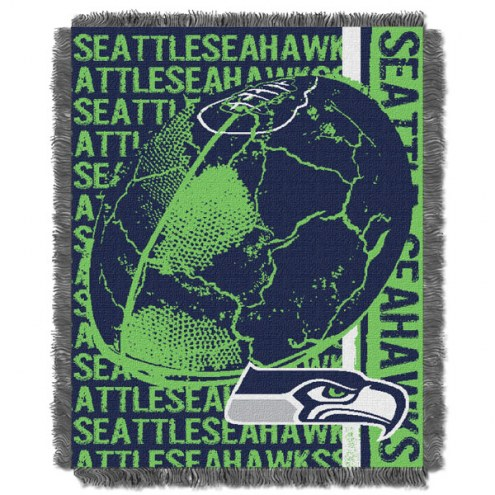 Seattle Seahawks Double Play Jacquard Throw Blanket